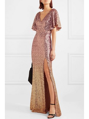Notte by Marchesa ombré sequined satin embellished gown