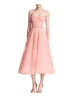 NOTTE BY MARCHESA Overlay Honeycomb Gown