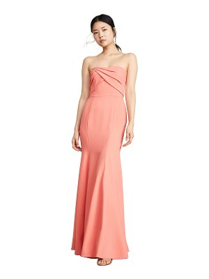 Notte by Marchesa sleeveless draped bodice gown