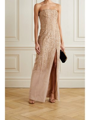 Notte by Marchesa strapless embellished tulle gown