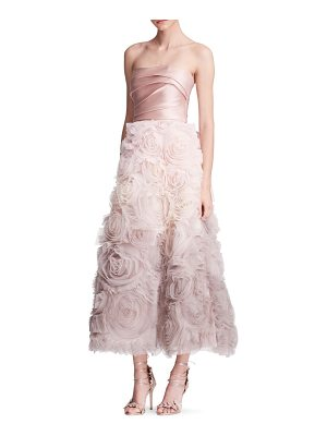 Notte by Marchesa strapless ombre gown