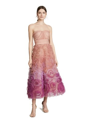 Notte by Marchesa strapless ombre textured tulle gown