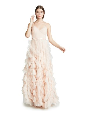Notte by Marchesa textured tulle gown