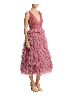 Notte by Marchesa tulle tiered gown