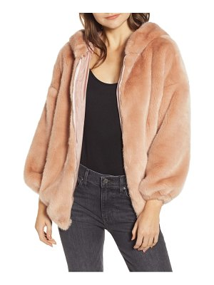 n:PHILANTHROPY cedar faux fur hooded jacket