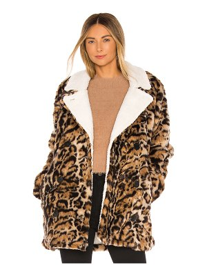 n:PHILANTHROPY faux fur turn jacket