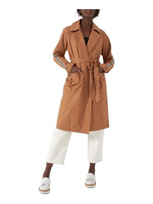 NVLT stripe sleeve trench coat