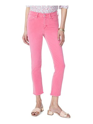 NYDJ sheri high waist frayed hem stretch slim ankle jeans