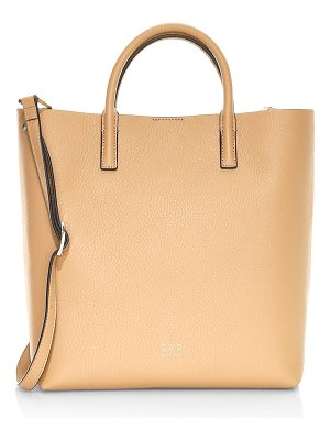 OAD tall leather carryall tote
