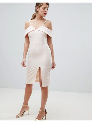 Oasis cold shoulder bodycon midi dress