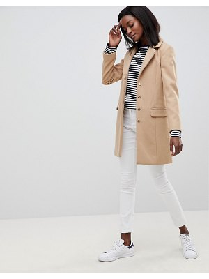 Oasis faux fur shawl collar coat