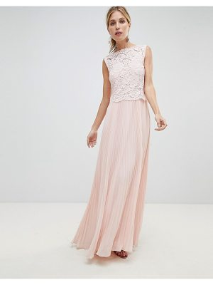 OASIS Occasion Lace Bodice Pleated Maxi Dress
