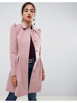 Oasis swing coat in pink