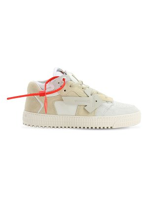 OFF-WHITE 20mm 4.0 suede & leather sneakers