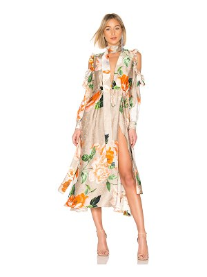 OFF-WHITE Floral Volant Dress