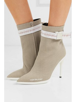 OFF-WHITE for walking buckled canvas ankle boots