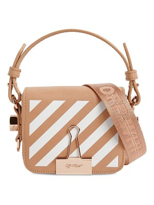 Off white Printed stripe baby leather shoulder bag