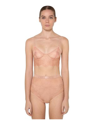 OFF-WHITE Soft lace lingerie set