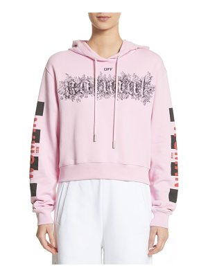 OFF-WHITE Taxi Crop Hoodie