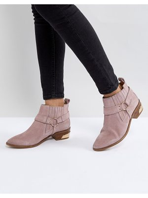 Office Atlas Blush Suede Western Boots