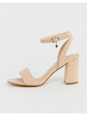 Office marigold light pink block heeled sandals
