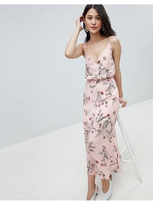 Oh My Love buttoned cami maxi dress