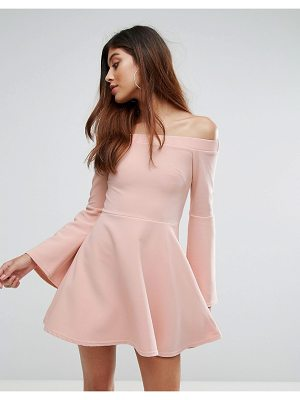OH MY LOVE Off The Shoulder Skater Dress
