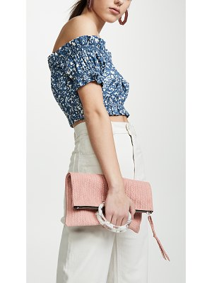 Oliveve jolie clutch with lucite handles