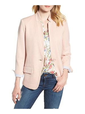 Olivia Moon cotton blend knit blazer
