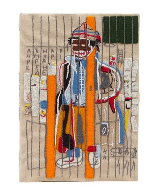 Olympia Le-Tan basquiat 'anthony clarke'-embroidered clutch bag
