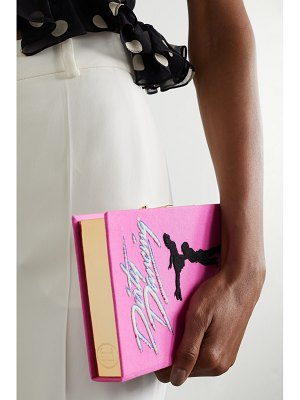 Olympia Le-Tan dirty dancing embroidered appliquéd canvas clutch