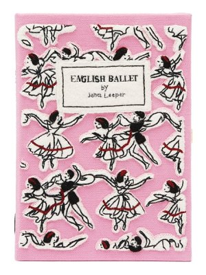 Olympia Le-Tan english ballet embroidered book clutch