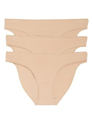 On Gossamer 3-pack cotton hip bikinis
