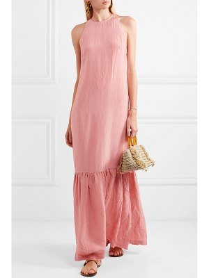 On The Island By Marios Schwab ogygia tiered satin maxi dress