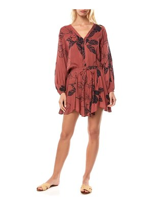 O'Neill marino floral print long sleeve minidress