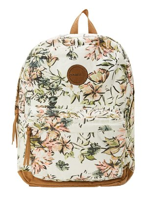 O'Neill shoreline floral print canvas backpack