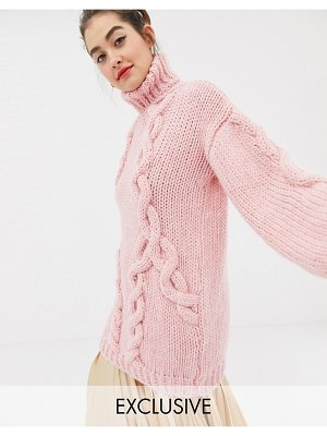 Oneon exclusive hand knitted cable sweater