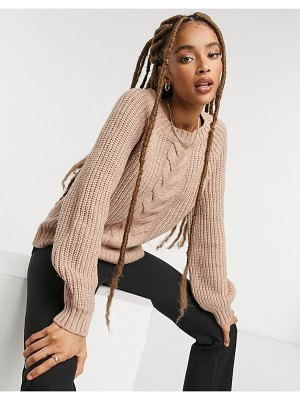 Only cable knit sweater in pink
