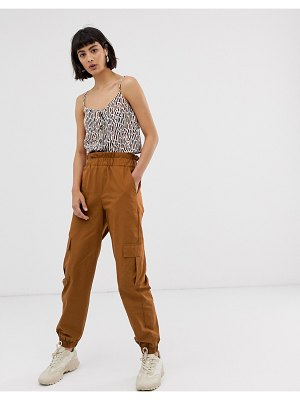 Only cargo pants with pocket detail-brown