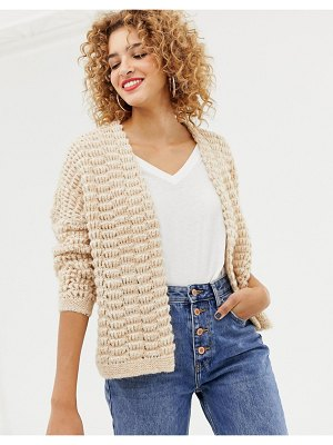 Only chunky knit cardigan-beige