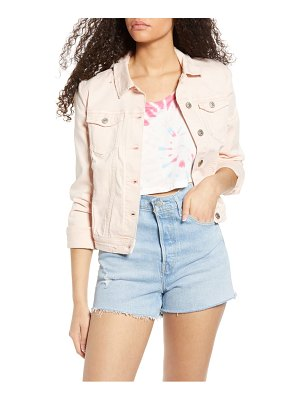 Only tia crop denim jacket