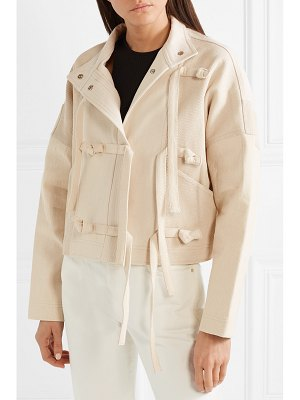 Opening Ceremony paneled cotton-twill and canvas biker jacket