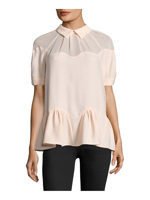 Opening Ceremony stone crepe wave top