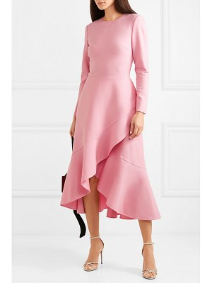 Oscar de la Renta asymmetric wool-blend midi dress