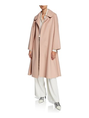 Oscar de la Renta Oversized Open Front Swing Coat