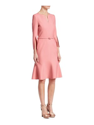 Oscar de la Renta slit-sleeve a-line cocktail dress