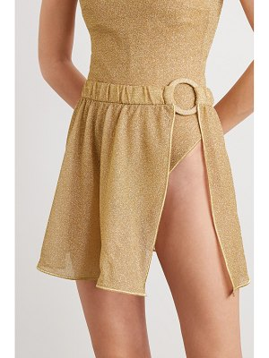 Oséree embellished metallic lurex mini skirt