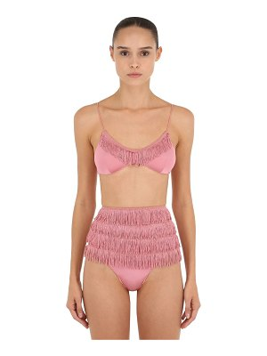 OSÉREE SWIMWEAR Charleston fringed high waisted bikini