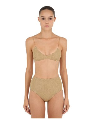 OSÉREE SWIMWEAR High waisted lurex & lycra bikini
