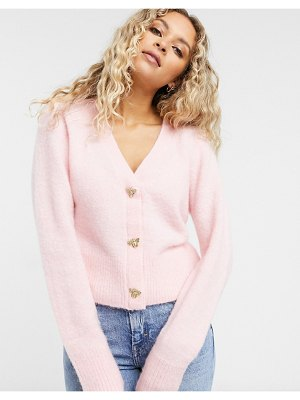 Other Stories &  bee button cardigan in pink